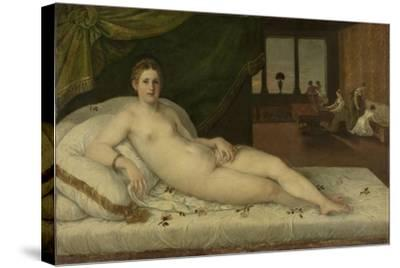 Reclining Venus-Lambert Sustris-Stretched Canvas Print
