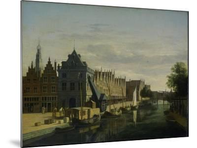 View the Waag at the Spaarne in Haarlem-Gerrit Adriaensz Berckheyde-Mounted Art Print