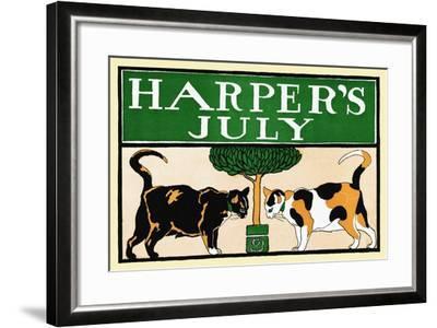 Harper's July-Edward Penfield-Framed Art Print