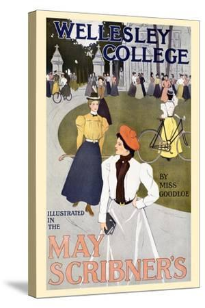 Wellesley College Illustrated in the May Scribner's-C. Allan Gilbert-Stretched Canvas Print