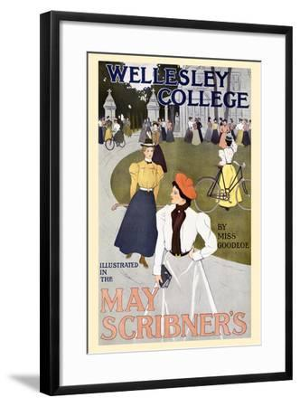Wellesley College Illustrated in the May Scribner's-C. Allan Gilbert-Framed Art Print