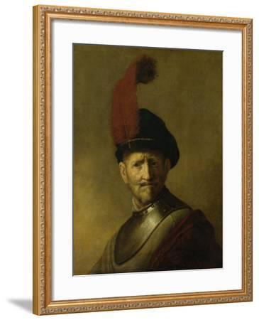 Portrait of a Man-Rembrandt van Rijn-Framed Art Print