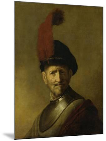 Portrait of a Man-Rembrandt van Rijn-Mounted Art Print