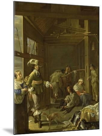 A Cavalry Stable-Jacob Duck-Mounted Art Print