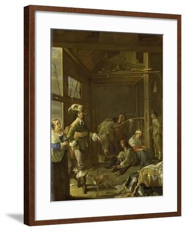 A Cavalry Stable-Jacob Duck-Framed Art Print