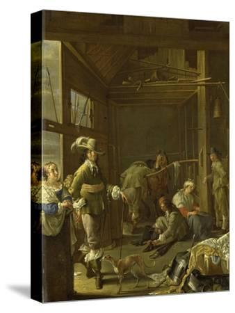 A Cavalry Stable-Jacob Duck-Stretched Canvas Print