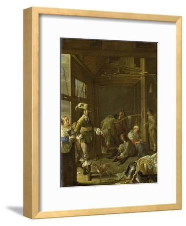 A Cavalry Stable-Jacob Duck-Framed Art Print