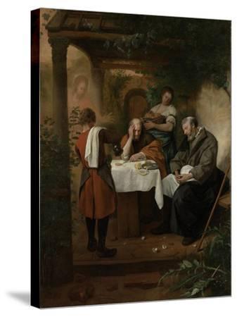 Supper at Emmaus-Jan Havicksz Steen-Stretched Canvas Print