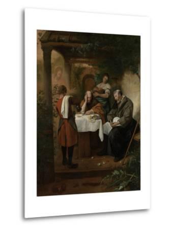 Supper at Emmaus-Jan Havicksz Steen-Metal Print