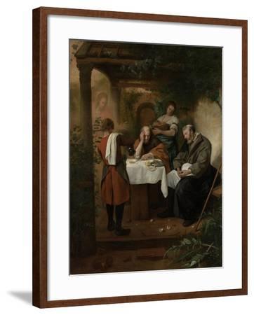 Supper at Emmaus-Jan Havicksz Steen-Framed Art Print