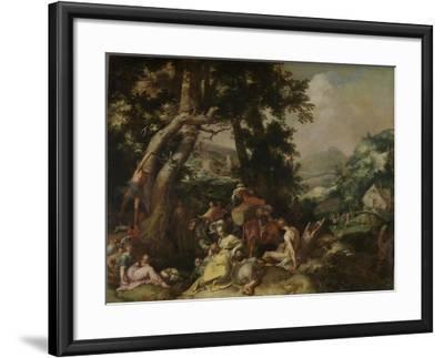 Preaching of Saint John the Baptist-Abraham Bloemaert-Framed Art Print