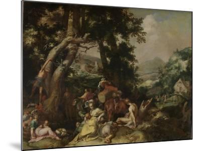 Preaching of Saint John the Baptist-Abraham Bloemaert-Mounted Art Print