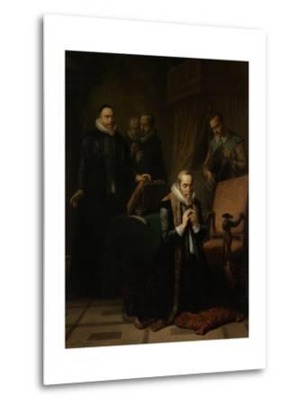 Last Prayer of Johan Van Oldebarneveldt-Simon Opzoomer-Metal Print