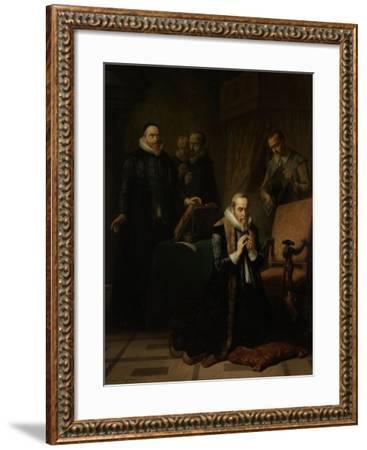 Last Prayer of Johan Van Oldebarneveldt-Simon Opzoomer-Framed Art Print