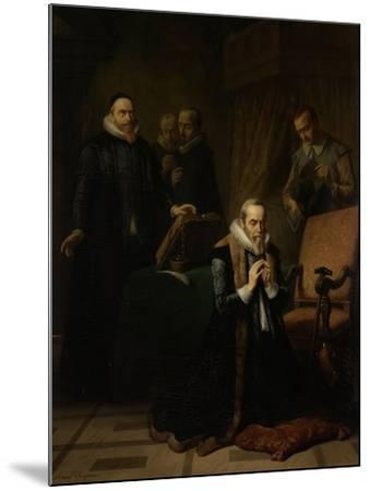 Last Prayer of Johan Van Oldebarneveldt-Simon Opzoomer-Mounted Art Print