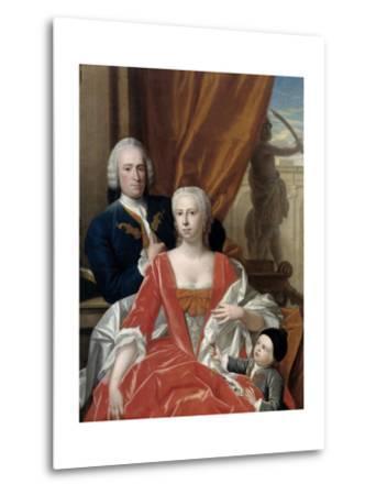 Berend Van Iddekinge with His Wife and their Son-Philip van Dijk-Metal Print