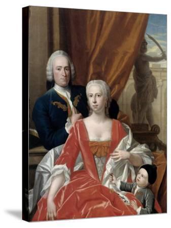 Berend Van Iddekinge with His Wife and their Son-Philip van Dijk-Stretched Canvas Print