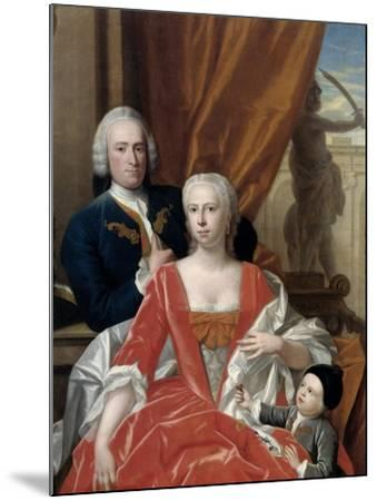 Berend Van Iddekinge with His Wife and their Son-Philip van Dijk-Mounted Art Print