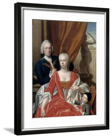 Berend Van Iddekinge with His Wife and their Son-Philip van Dijk-Framed Art Print