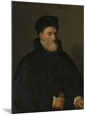 Portrait of an Old Man, Probably Vercellino Olivazzi, Senator from Bergamo-Giambattista Moroni-Mounted Art Print