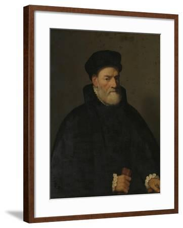 Portrait of an Old Man, Probably Vercellino Olivazzi, Senator from Bergamo-Giambattista Moroni-Framed Art Print