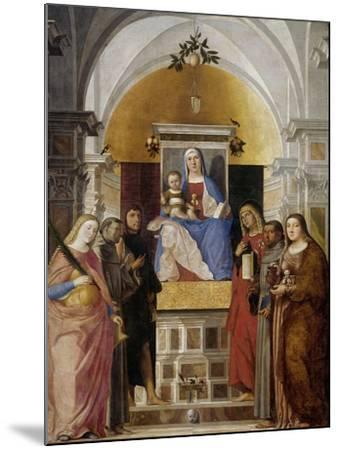 Virgin and Child with Saints-Marcello Fogolino-Mounted Art Print