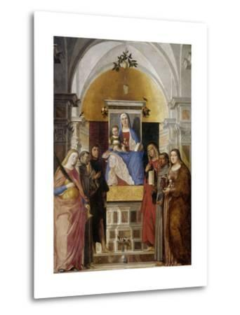 Virgin and Child with Saints-Marcello Fogolino-Metal Print