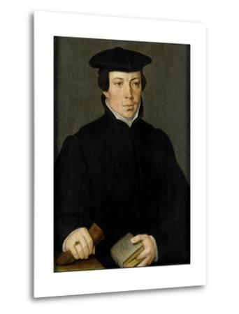 Portrait of a Young Clergyman, Pieter Pourbus.-Pieter Pourbus-Metal Print