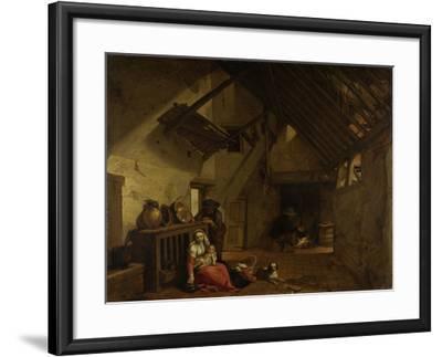 Rest on the Flight into Egypt-Abraham Bloemaert-Framed Art Print