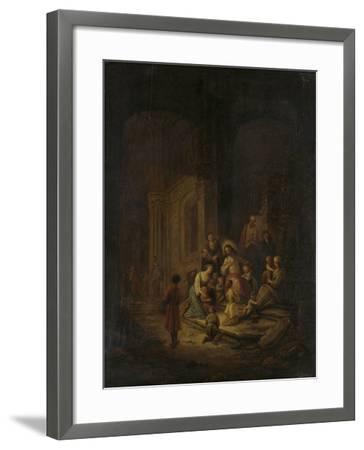 Christ Blessing the Little Children-Jacob de Wet-Framed Art Print
