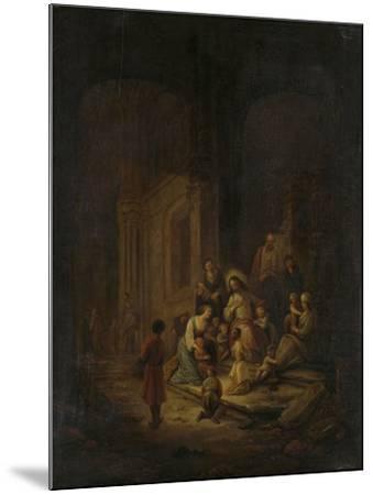 Christ Blessing the Little Children-Jacob de Wet-Mounted Art Print