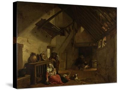 Rest on the Flight into Egypt-Abraham Bloemaert-Stretched Canvas Print