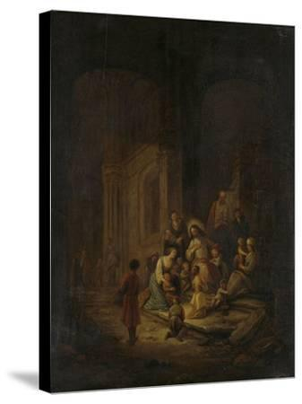Christ Blessing the Little Children-Jacob de Wet-Stretched Canvas Print