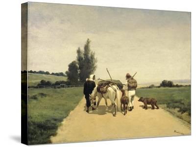 Gypsies on the Road-Karel Frederik Bombled-Stretched Canvas Print