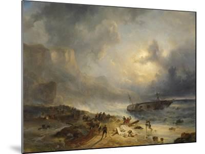 Shipwreck Off a Rocky Coast-Wijnand Nuijen-Mounted Art Print