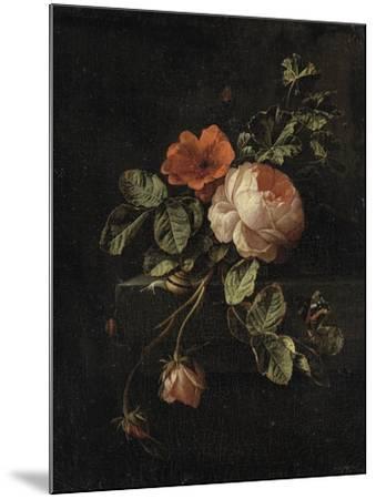 Still Life with Roses-Elias Van Den Broeck-Mounted Art Print