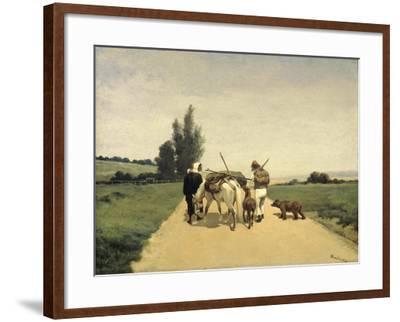 Gypsies on the Road-Karel Frederik Bombled-Framed Art Print