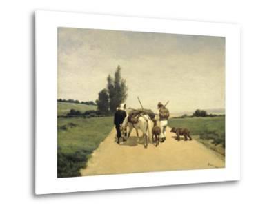 Gypsies on the Road-Karel Frederik Bombled-Metal Print