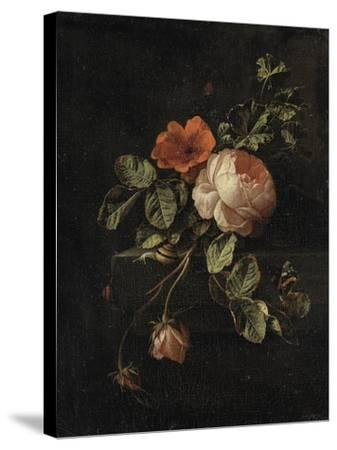 Still Life with Roses-Elias Van Den Broeck-Stretched Canvas Print