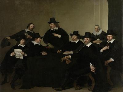 Regenten Regents of the Nieuwe Zijds Institute for the Outdoor Relief of the Poor, Amsterdam-Jacob Adriaensz Backer-Framed Art Print