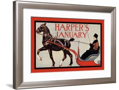 Harper's January-Edward Penfield-Framed Art Print