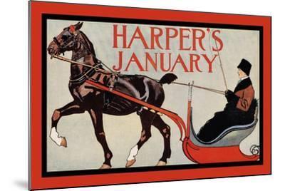 Harper's January-Edward Penfield-Mounted Art Print