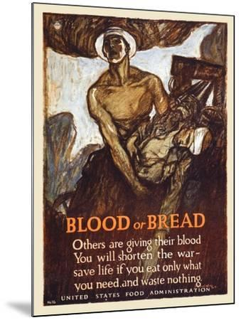 Blood or Bread-Henry Raleigh-Mounted Art Print