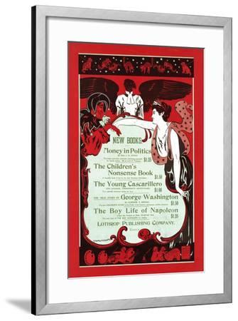 New Books.--Framed Art Print