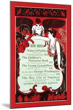 New Books.--Mounted Art Print