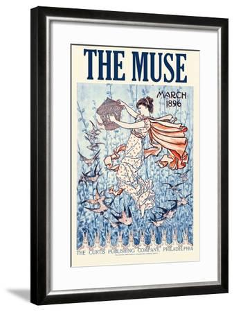 The Muse Home Jurnal, March 1896--Framed Art Print