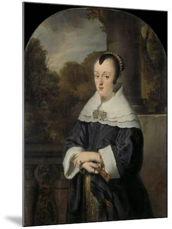 Maria Rey. Wife of Roelof Meulenaer-Ferdinand Bol-Mounted Art Print
