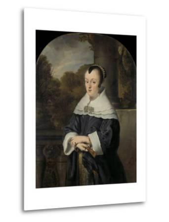 Maria Rey. Wife of Roelof Meulenaer-Ferdinand Bol-Metal Print