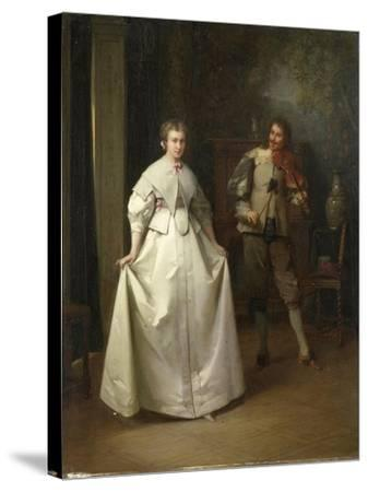 Dance-Aime Gabriel Adolphe Bourgoin-Stretched Canvas Print