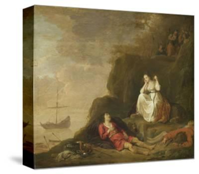 Agenes and Chariclea-Daniel Thivart-Stretched Canvas Print